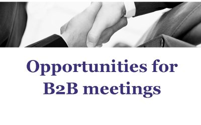 B2B meetings for Norwegian companies and organizations taking part in NRBF VI